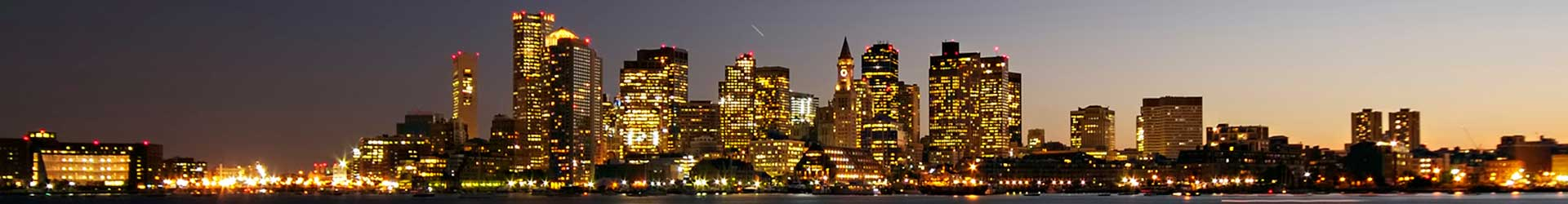 Boston skyline.  Linkwell Services for Boston area small and medium organizations